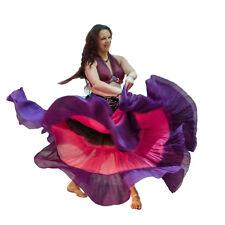 "3 Shaded Tribal gypsy 25 yards yard belly dance dancing cotton skirt L39"" LONG"