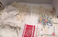 Antique Dresser Scarf Lot Of 7