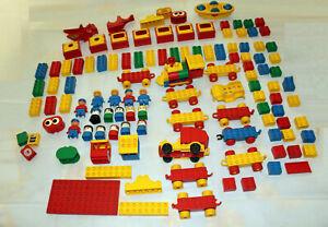 Gros lot pièces LEGO DUPLO plus de 100 pièces briques personnages loco vehicules