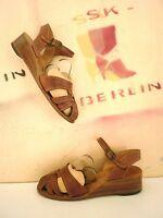 Damen Sandalette JUDITH ischia TRUE VINTAGE Sandalen Sandaletten braun Keilschuh