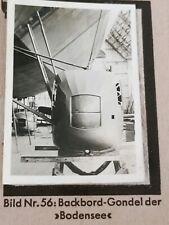 1933 Zeppelin Weltfahrten Cigarette Card German Photo 56 Port Gondola Bodensee