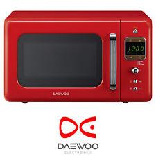 Daewoo KOR7LBKR Red 20L Freestanding 800W Retro Eco Standby Microwave