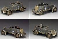 KING & COUNTRY WW2 GERMAN ARMY WS246 ADLER KFZ. 13 ARMORED CAR SET MIB