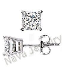 1.60Ct Princess Diamond Stud Earrings VS1-H