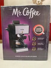 Espresso Cappuccino Maker Coffee Steam 4-Cup Black Milk Frother Latte Brand New