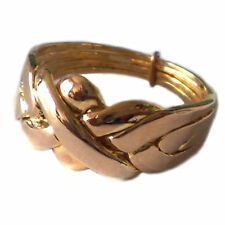 Solid Bronze 4 Band Turkish Puzzle Ring - Sizes 4 to 12