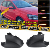 Dynamic LED Turn Signal Rear View Mirror Light For VW Polo MK5 6R 09-13 6C 15-17