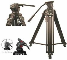 Professional Heavy Duty DV Video Camera Tripod Fluid-Pan Head Kit 1800MM 72 Inch