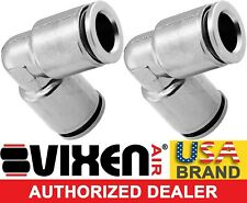 """PUSH TO CONNECT/PTC UNION/JOINT ELBOW FITTING FOR 3/8"""" OD HOSES 2PK VXA8138-2"""