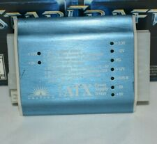 Vastech 20-pin ATX Power Supply PSU Diagnostic Tester 12V 4pin Molex Floppy Plug