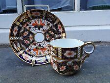 ANTIQUE ROYAL CROWN DERBY IMARI PATTERN DATE MARK 1915 TEA CUP & SAUCER (E)