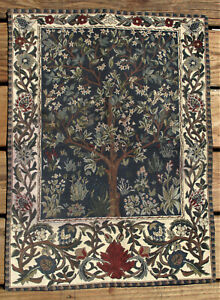 Tree of Life I Collection Belgian Woven Wall Hanging Cotton Tapestry Metrax
