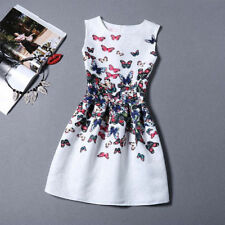 Nice Women Summer Fashion Casual Sleeveless Floral Party Cocktail Dress-6ae