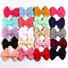 "20PCS 11CM 4.3"" Big Seersucker Waffle Hair Bows For Hair Accessories Boutique"