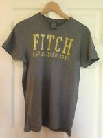 Men's ABERCROMBIE & FITCH Muscle Fit T Shirt Grey Size Small