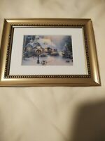 Stonehearth Hutch by Thomas Kinkade in 7x9 Wall or Tabletop Gold Frame