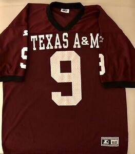 Starter Burgundy Football Jersey Texas A&M University Aggies #9 Men's 52 XL