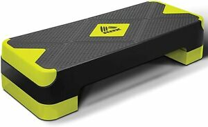 Adjustable Aerobic Step Platform with 2 Levels and Non Slip Surface
