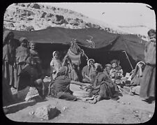Glass Magic Lantern Slide WOMEN GRINDING AT MILL C1900 PHOTO MIDDLE EAST