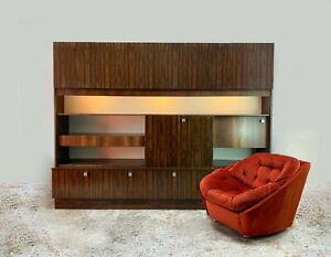 1970's mid century large rosewood wall unit by Wharfside Furniture