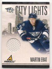 Martin Erat 10-11 Pinnacle City Lights Game Worn Jersey /499