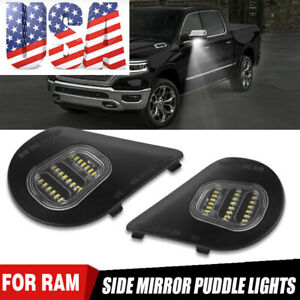 2X LED Under Tow Side Mirror Puddle Lights for Dodge Ram 1500 2500 3500 4500 US