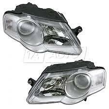 VW Passat Mk6 B6 Estate 6/2005-3/2011   Headlights Headlamps Pair O/S & N/S