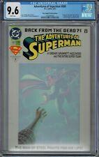 CGC 9.6 ADVENTURES OF SUPERMAN #500 RARE PLATINUM EDITION VARIANT 1ST STEEL APP