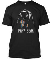Papa Bear Autism Awareness - Hanes Tagless Tee T-Shirt