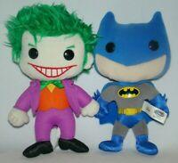 "Funko Plushies Batman & Joker 8"" Plush 2010 Justice League DC Comics"