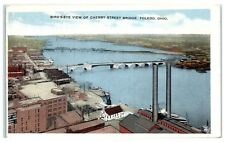 Early 1900s Aerial View of Cherry Street Bridge, Toledo, OH Postcard