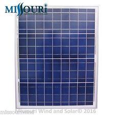12 Volt 50 Watt Polycrystalline Solar Panel Photovoltaic PV Off Grid boat marine