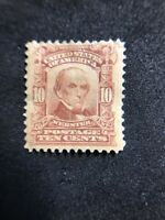 us stamps Scott 307 MH OG Defective Tear See Photo Lot 3