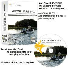 Humminbird AutoChart PRO DVD PC Mapping Software With Zero Lines Map Card