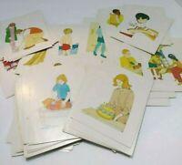 Ideal Language Arts Cards What Follows Next Ephemera Picture Educational Vintage