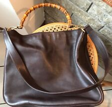 Gucci Borsa Bag Pelle Leather Shopper Bamboo Originale Original