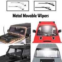 Limpiaparabrisas móviles de metal para TRX6 TRX4 Benz Jimny Wrangler KM2 RC Car