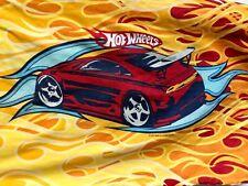 Mattel HOT WHEELS Flame Pillowcase! Bright Red Green Cars~ Springs Global CLEAN