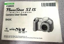 CANON POWERSHOT S1 IS DIGITAL CAMERA INSTRUCTION MANUAL
