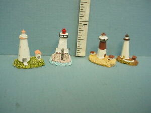 Miniature  Lighthouses Figurine T8484  Set of 4 1/12th Scale