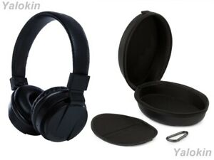 Wireless Over Ear Collapsible Headphones with Mic & Leather Carrying Case (CSMS)