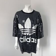 Super Rare Adidas Originals X Jeremy Scott All Over Sequins Giant T-Shirt OSFA