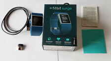 Unused Fitbit Surge Fitness Superwatch in Retail Pkg wt Accessories - BLUE SMALL
