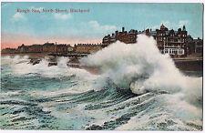 Rough Sea, North Shore, Blackpool - Colour - Vintage Postcard