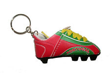 NEW ALBANIA BLACK RED COUNTRY FLAG SOCCER  SHOE CLEAT KEYCHAIN .