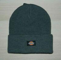 Dickies Grey Cuffed Beanie Watch Cap Hat Core Knit Cuff New