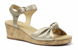 Hotter Women's Palmas Wedge Sandal Leather Buckle Fastening Adult Sandals
