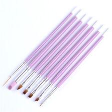 7PCS/SET Pro Nail Art UV Gel Painting Drawing Brushes Acrylic Flat Brush Set