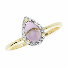 Unbranded Diamond Amethyst Yellow Gold Fine Rings