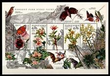 Nationalpark Niedere Tatra. Pflanzen, Vögel,Schmetterlinge. Block. Slowakei 2012